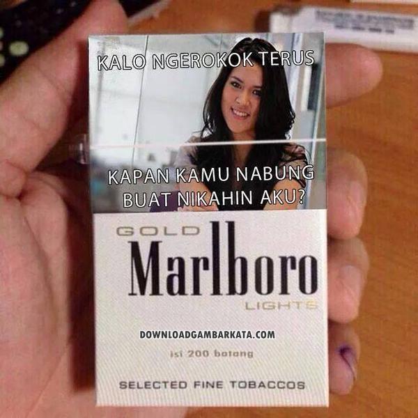 Gambar Kata Peringatan Bahaya Merokok Lucu Terbaru