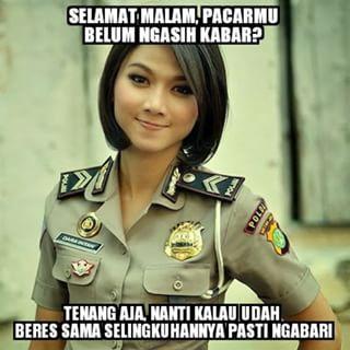 Meme Comic Indonesia Lucu Polwan Cantik