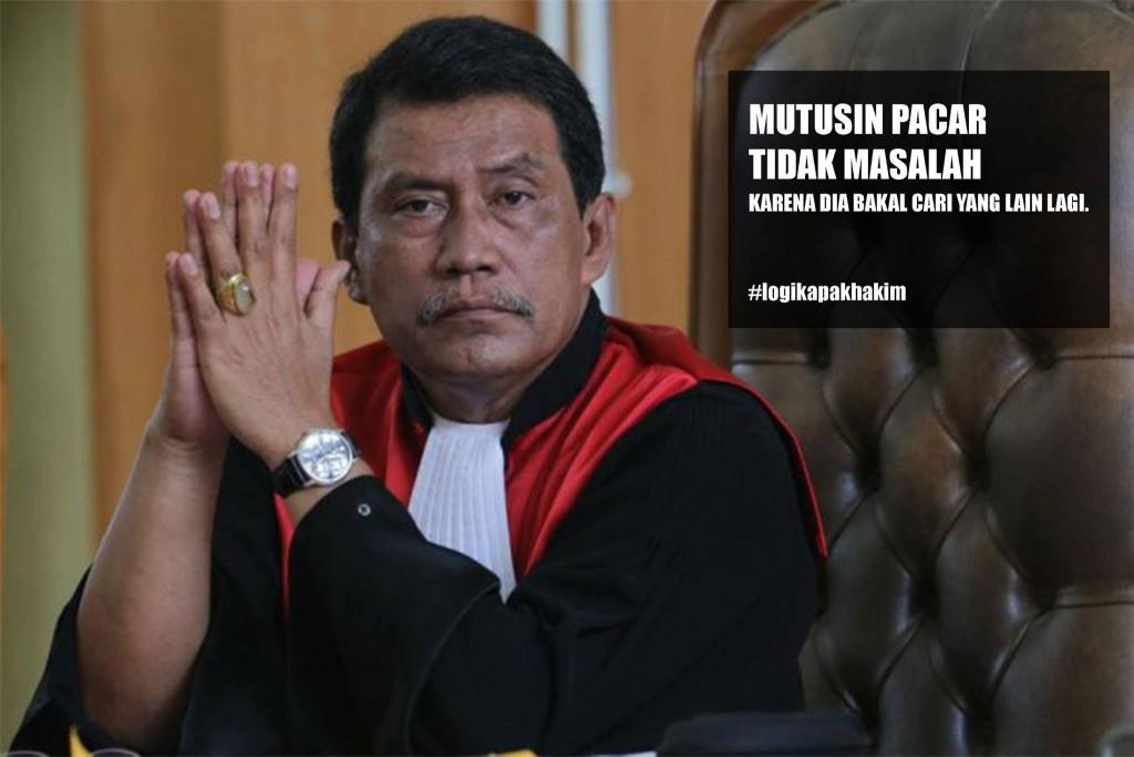 Kumpulan Meme Logika Pak Hakim Parlas Nababan Terlucu  Download Gambar Kata