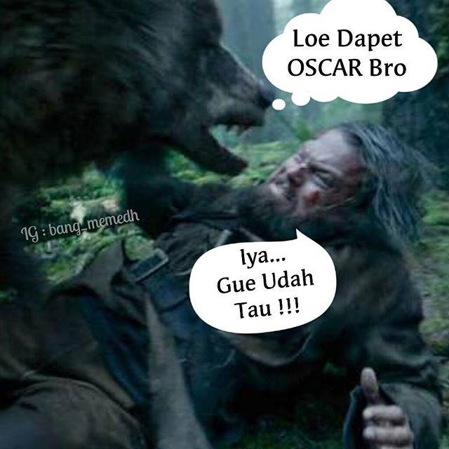 Beberapa Foto Meme Leonardo Di Caprio Rebut Piala Oscar