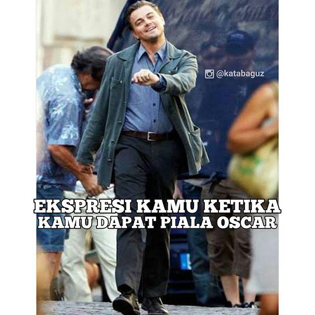 Gambar Meme Kocak Leonardo Di Caprio Raih Oscar