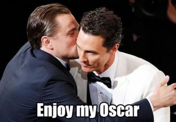 Koleksi Gamar Lucu Meme Leonardo Di Caprio Rebut Oscar