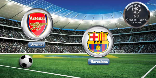 Wallpaper Gambar DP BBM Arsenal Vs Barcelona Liga Champions