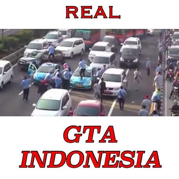 DP Lucu Dan Konyol Demo Taksi Real GTA Indonesia