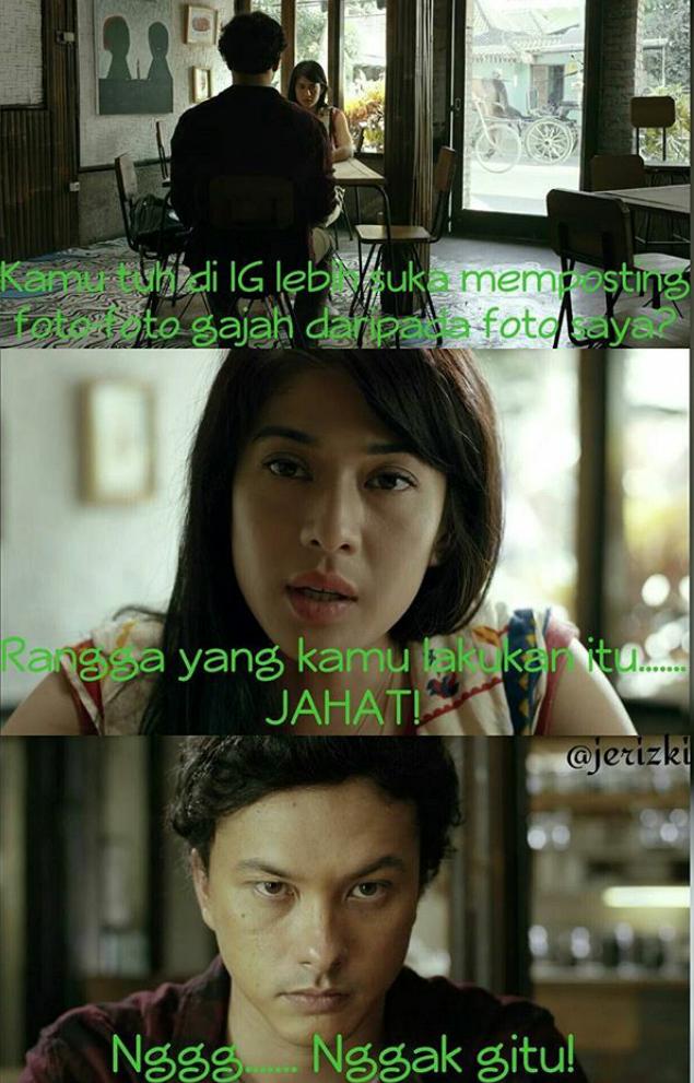 DP Lucu Kocak Meme Rangga Dan Cinta AADC 2