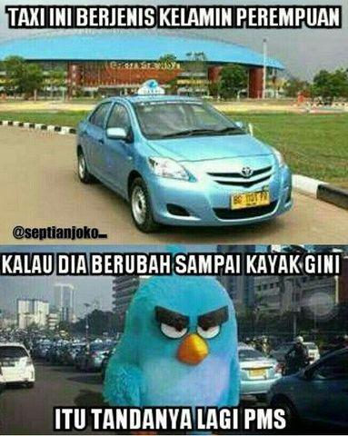 Foto Lucu Demo Taksi Lagi PMS