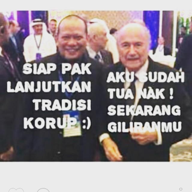 Meme Konyal Tradisi Korupsi La Nyalla Dan Saepp Blatter