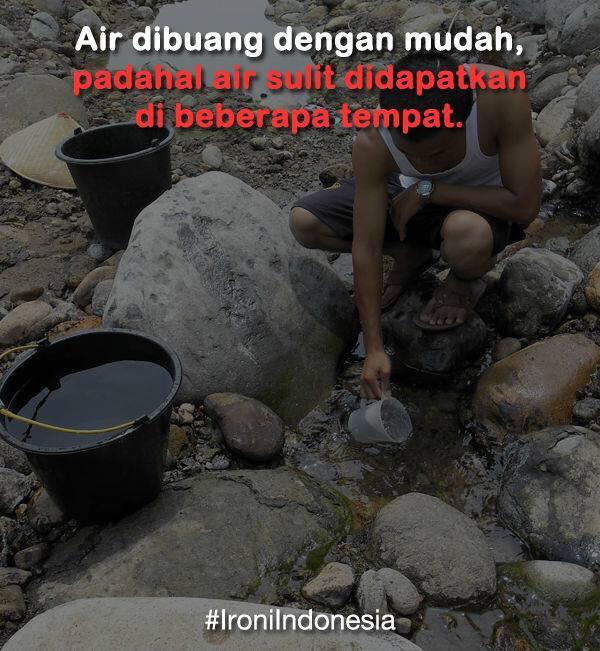 Foto Ironi Indonesia Dimana Sulit Mencari Air