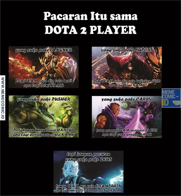 Meme Kocak Pacaran Sama Player Dota 2