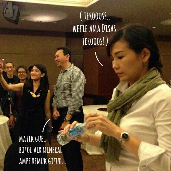 DP BBM Lucu Veronica Tan Marah Sama Ahok