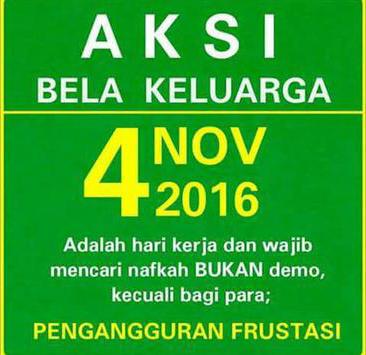 DP BBM Demo 4 Nov Tetap Kerja Bela Keluarga Lucu