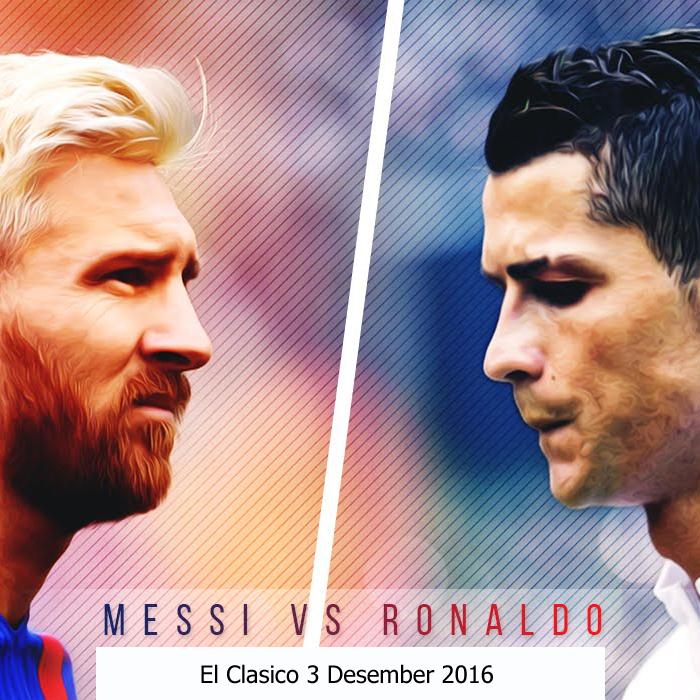 DP BBM Messi Vs Ronaldo El Clasico Jilid Pertama