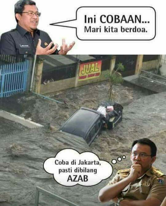 Gambar Kata Konyol Meme Banjir Bandung Lucu Download Gambar Kata