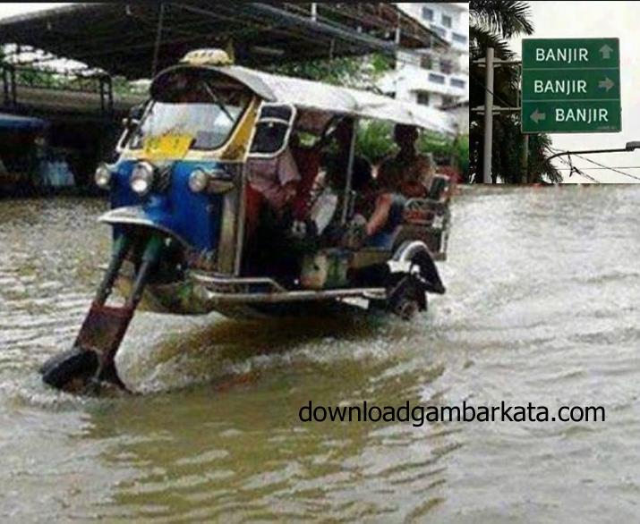 Gambar Kata Konyol Meme Banjir Bandung Lucu